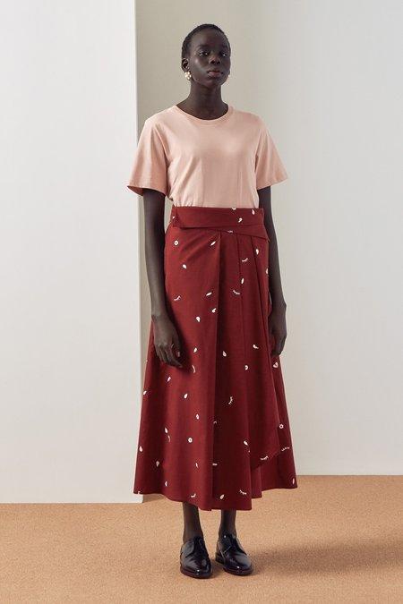 Kowtow Fold Over Skirt - dream
