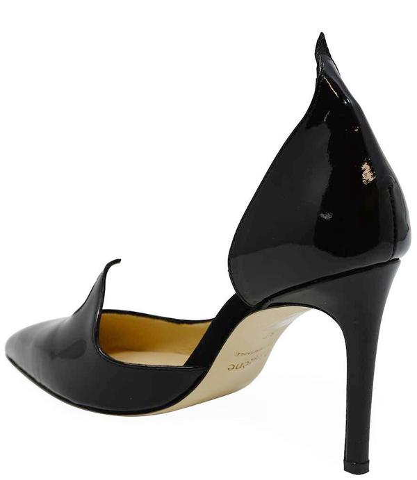 Eugene Riconneaus Black Leather 85 Pump