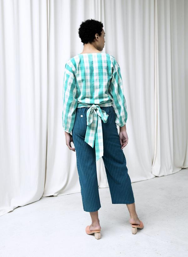 Seek Collective Paige Top - mint gingham