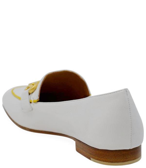 Mara Bini Leather Flat Loafer - Bianco
