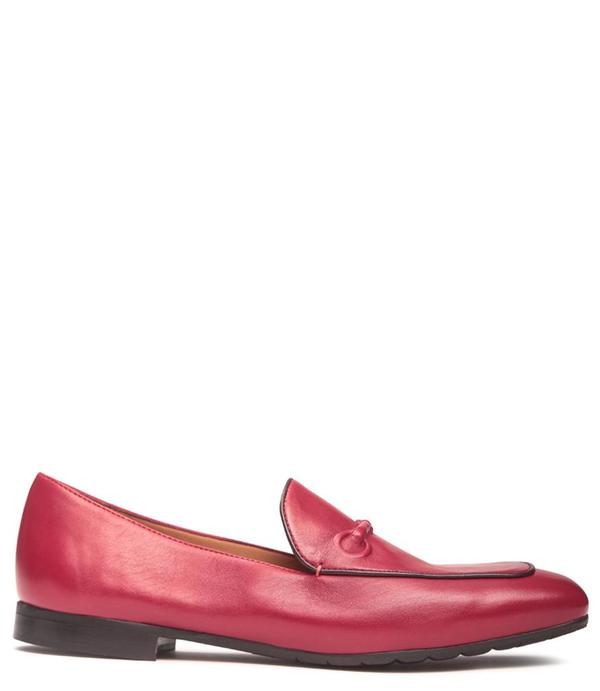 Mara Bini Leather Flat Loafer - Mattone