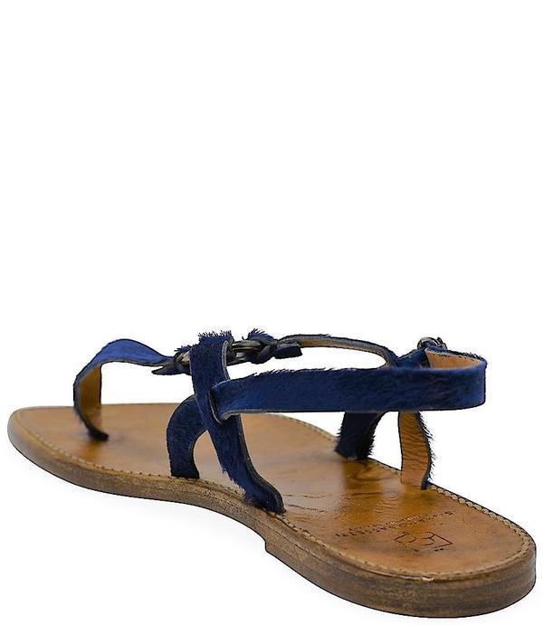 Silvano Sassetti Blue Leather Sandals