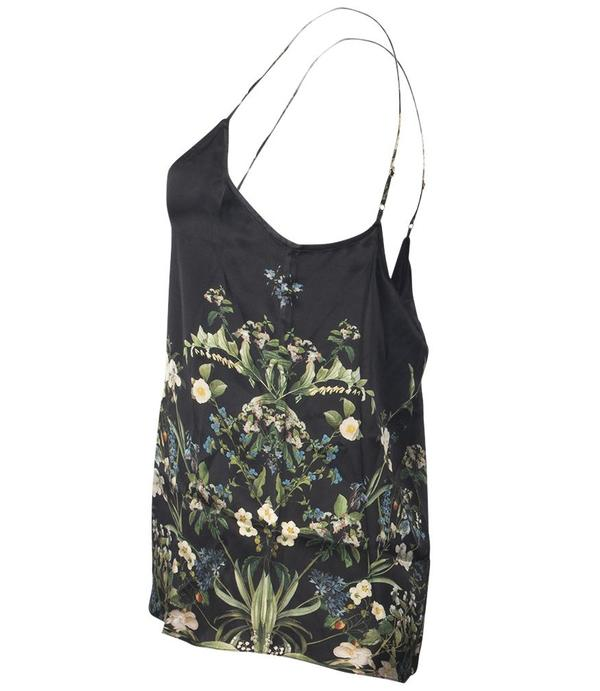ST. Piece Silk Blouse - black