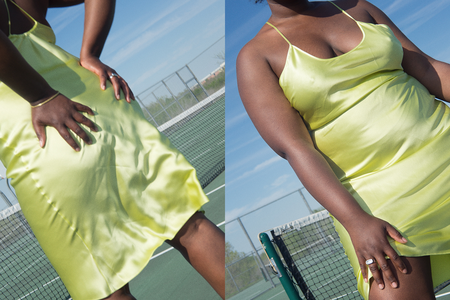 Priscavera Low Back Slip Dress - Honeydew