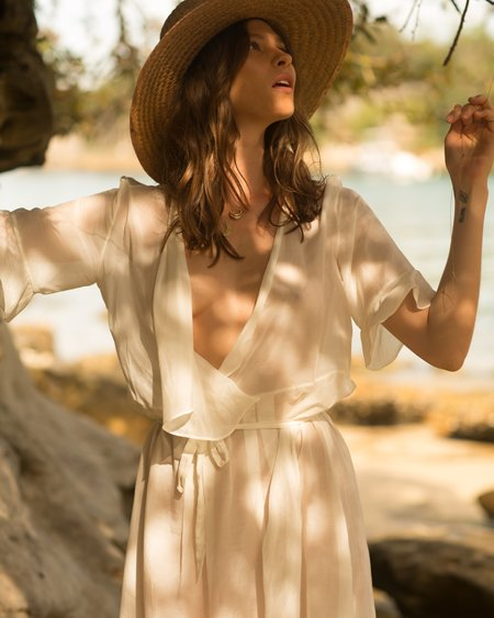 FIELD Wrap Dress - Natural