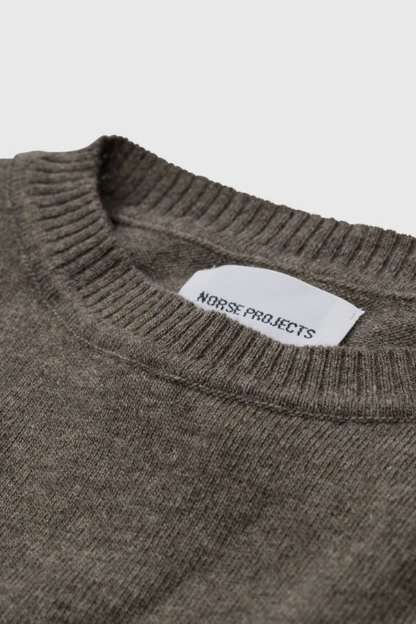 Norse Projects Sigfred Light Wool Sweater - Ivy Green