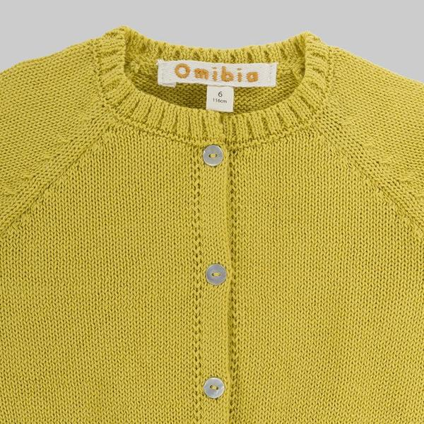 KIDS Omibia Otis Cardigan - LIME