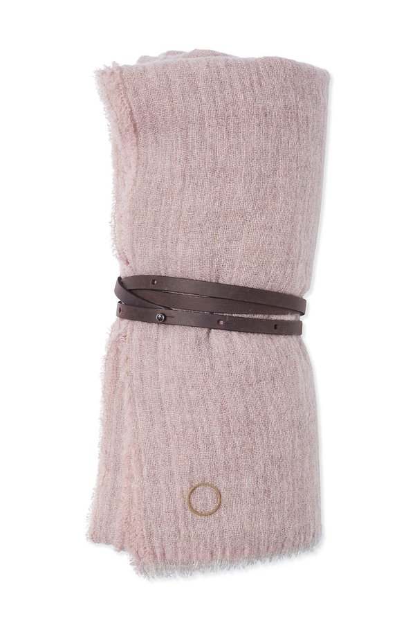 Oyuna Esra Finely Woven Light Cashmere Travel Throw - Rose Pink