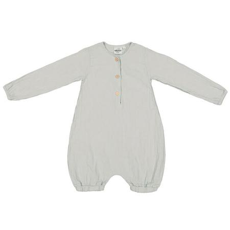 Kids Moumout Paris Baby And Child Jim Long Sleeved Romper - Almond Green