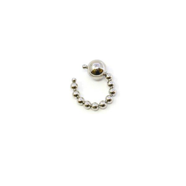 Joomi Lim Sphere Ear Cuff - Rhodium