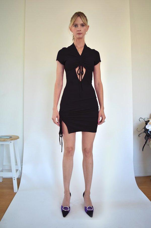 Oori Ott Peekaboo Petra Dress - Black