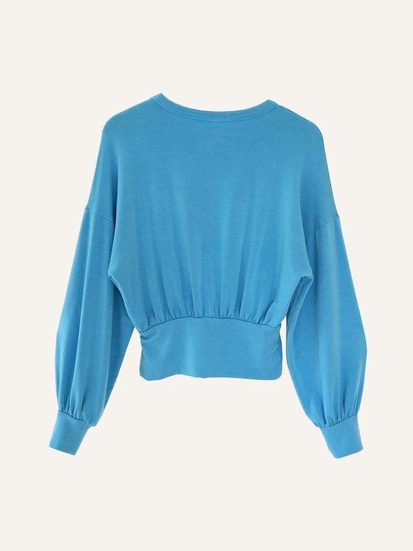 Oori Ott Romy Pullover - Tiffany Blue