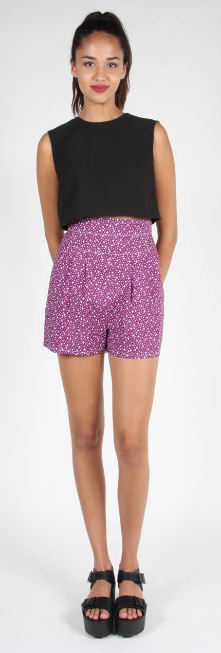 Birds of North American Wren Shorts (Purple Stars)