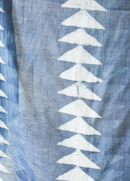 Block Shop Textiles - Saddle Blanket Indigo Scarf