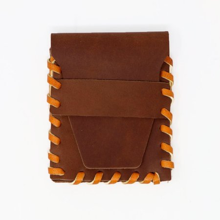 Forager Co. Leather Laced Buckskin Wallet - Brown