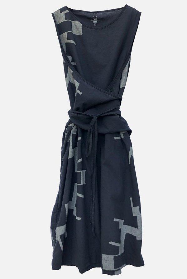 Uzi NYC Oxford Dress - Sun print