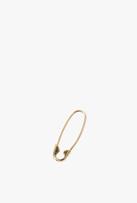 Loren Stewart Single Mini Safety Pin Earring - 14k Gold
