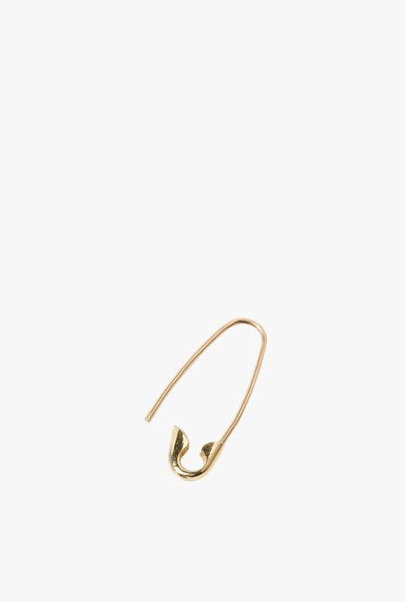 Loren Stewart Mini Safety Pin Earring Single - 14k Gold
