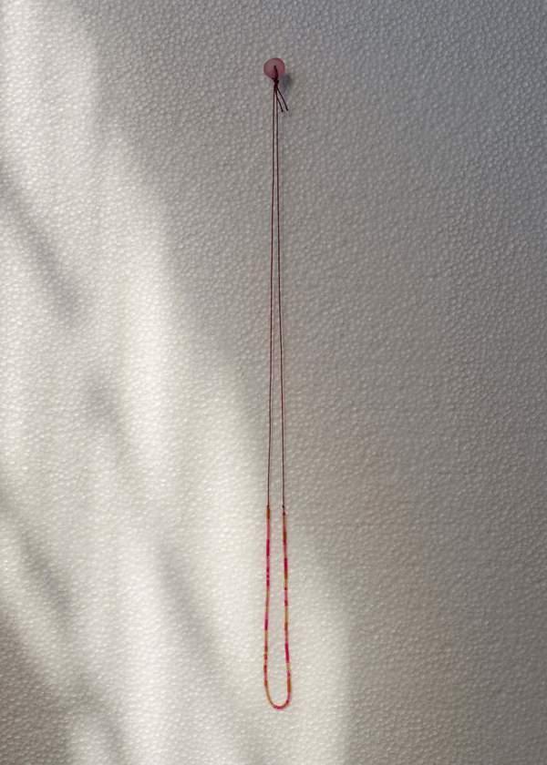 Zelda Murray bead necklace - pink/brown