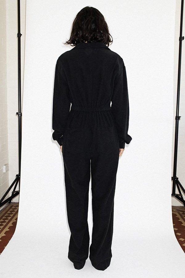 Neuw Flight Linen Jumpsuit - Midnight Black