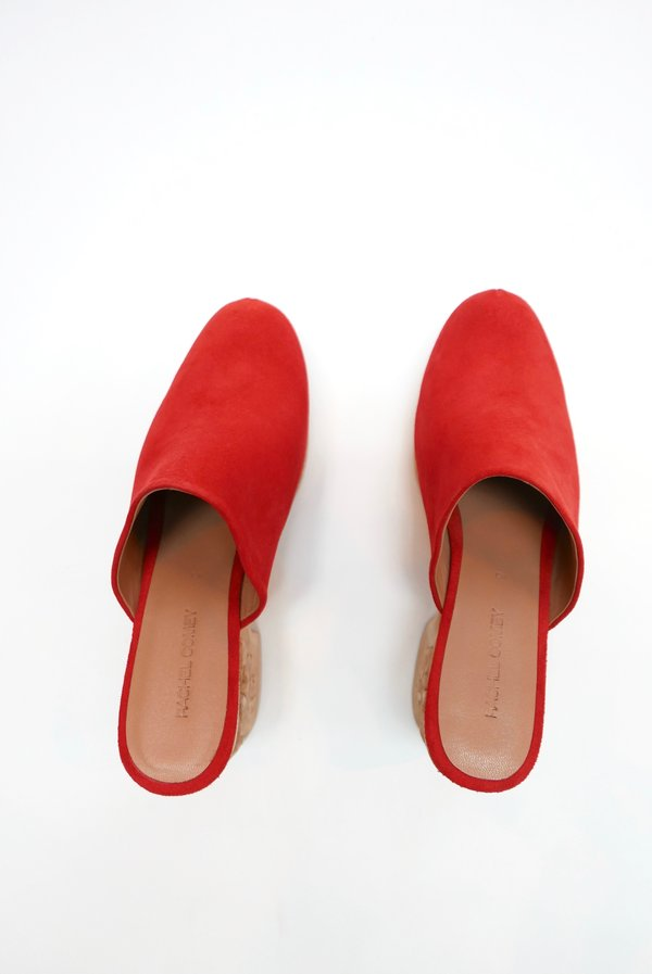 Rachel Comey Carved Bose Clog - Red Suede