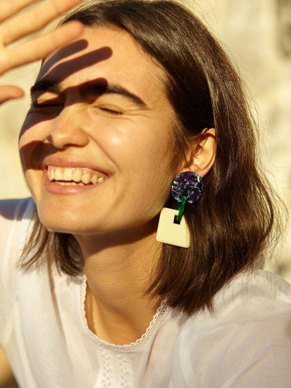 Valet Savannah Earrings - White