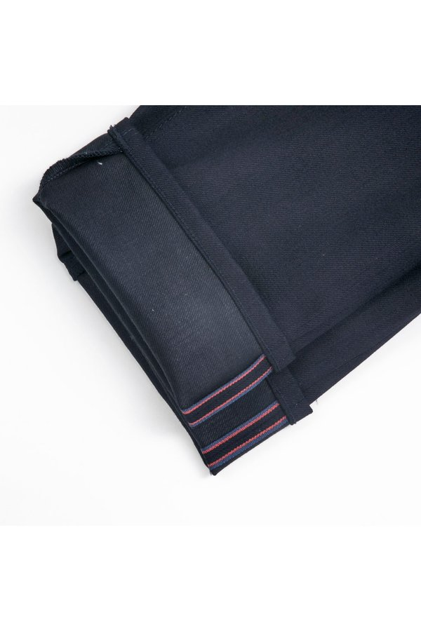 KATO The Pen Slim 4-Way Raw Stretch Selvedge Denim Jeans - Indigo Black