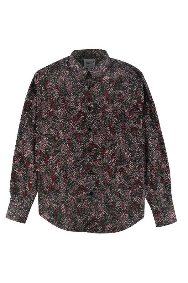 NAKED & FAMOUS Easy Shirt - Allover Flowers/Black