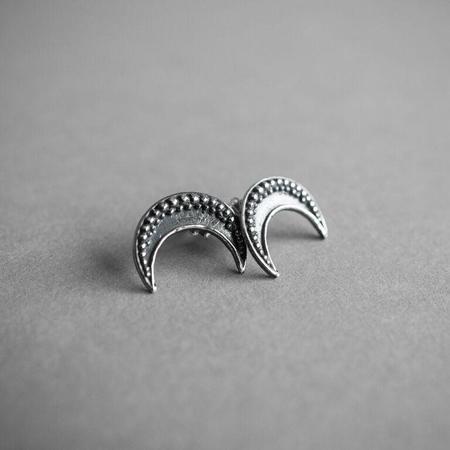 Arcana Obscura Moon Stud Earrings - Sterling Silver
