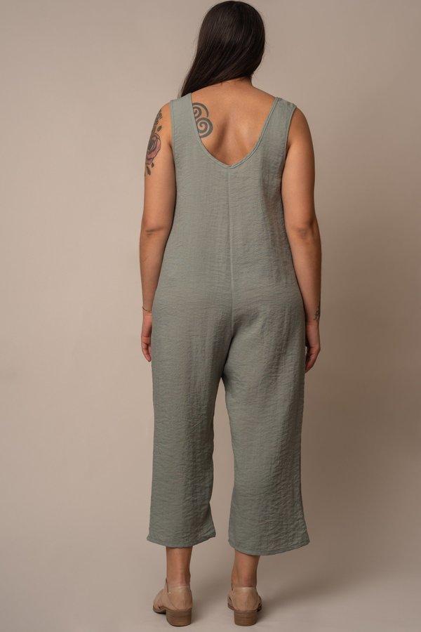 Altar Houseline Pocket Jumpsuit Sage Green Garmentory