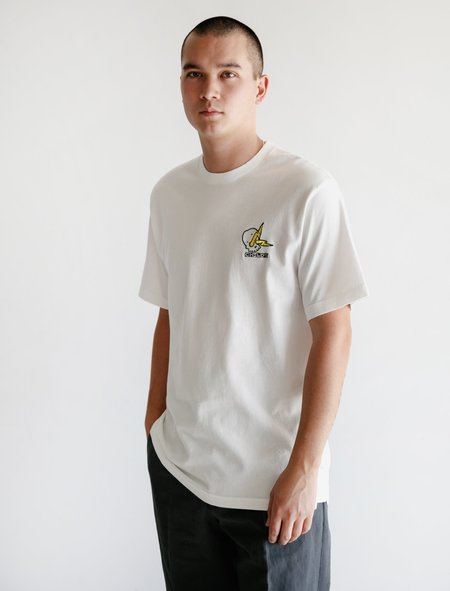 Childs Embroidered Clean T - White