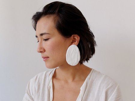 doucement lucy earrings - white