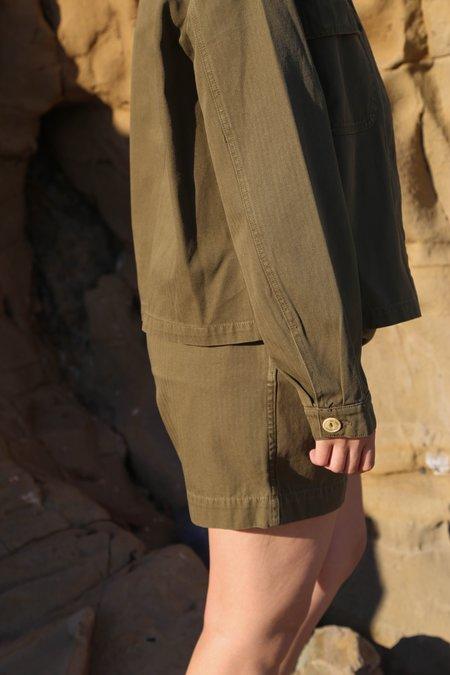 Girls of Dust HBT River Shorts - Khaki