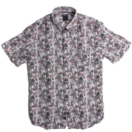 Benson Short Sleeve shirt - Leaves