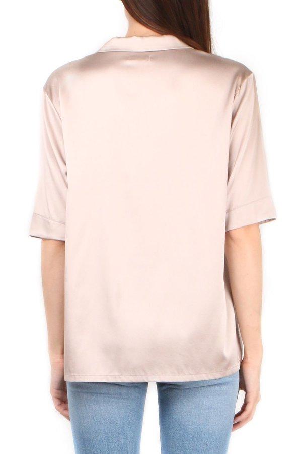 6397 Pink Short Sleeve PJ Top - pink