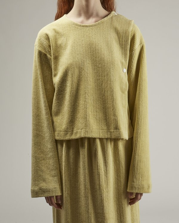 Baserange Fauna Terry Fleece Sweatshirt - green