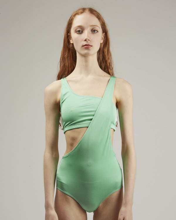 Baserange Una swimsuit set - blue/green
