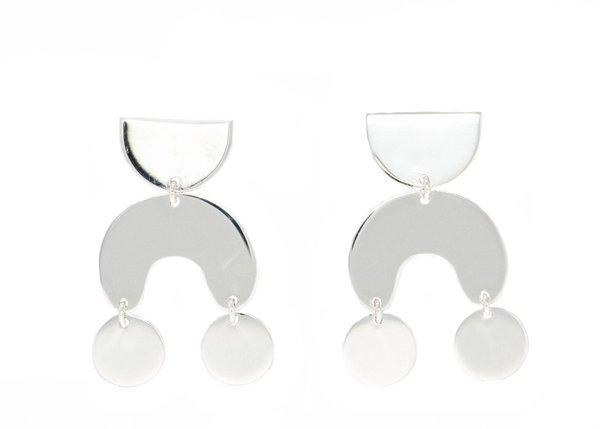Modern Weaving Teeny Tiny Moondancer Earring - Silver