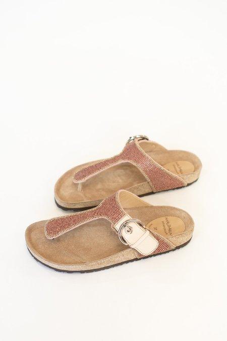 Maliparmi Macro Beaded Sandals - Rosa Del Derserto
