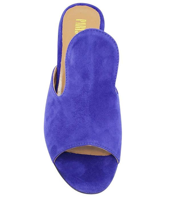Paris Texas Blue Suede and Leather Sandal