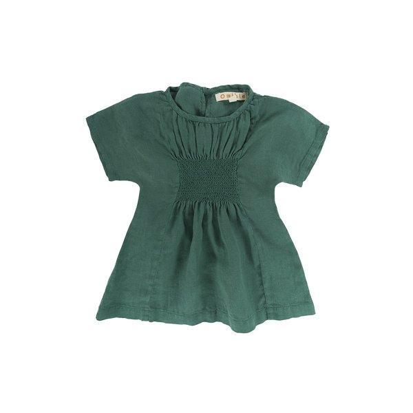 KIDS Omibia Bella Dress - Bottle Green