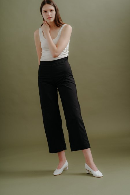 Ali Golden Side Zip Pant - Black Canvas