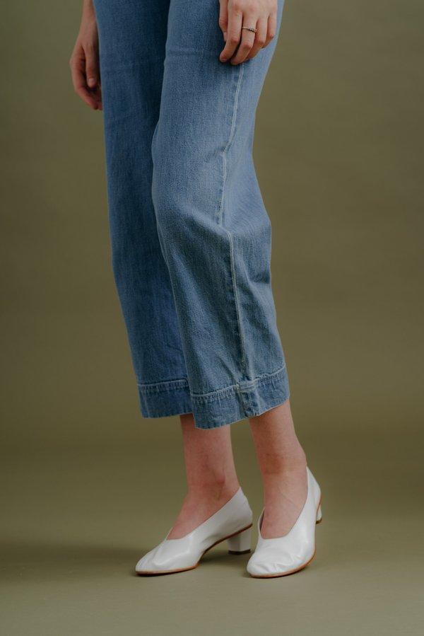 Ali Golden Side Zip Pant - Light Denim