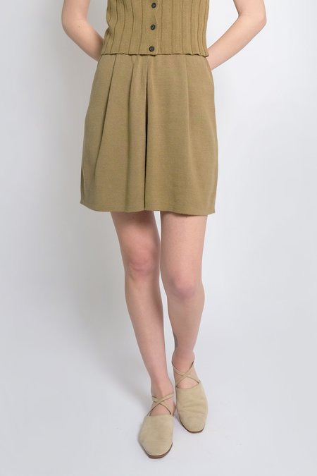 Micaela Greg Pleated Knit Short - Juniper