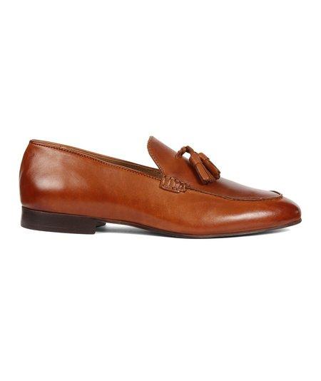 Hudson London Slip on Calf Tassel Loafer - Tan