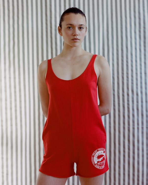 OffSeasonNYC Memento Shortsuit - Red French Terry