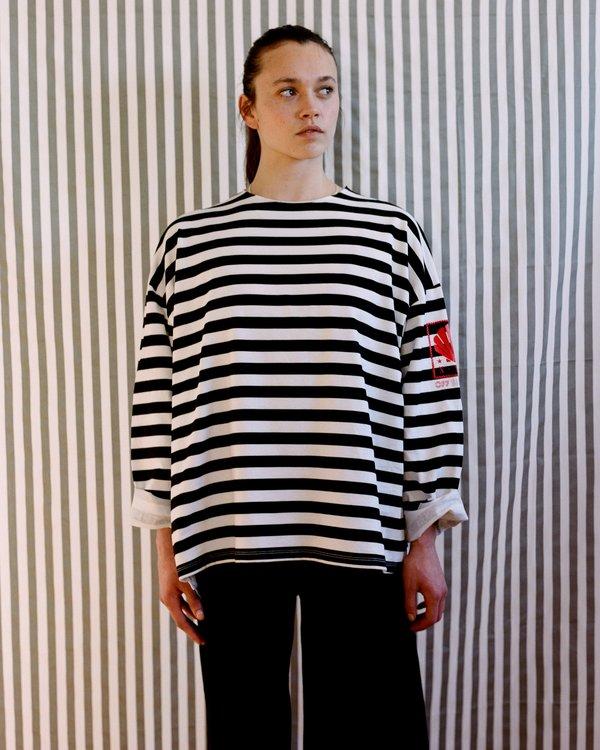 OffSeasonNYC Token Pull Over - Black/White Stripe Jersey