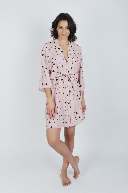 LoversLand Pink Heart Robe