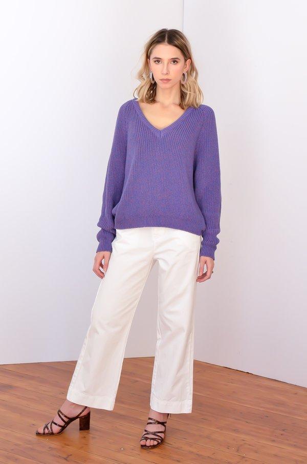 Baserange Danube V-Neck Sweater - Echo Blue