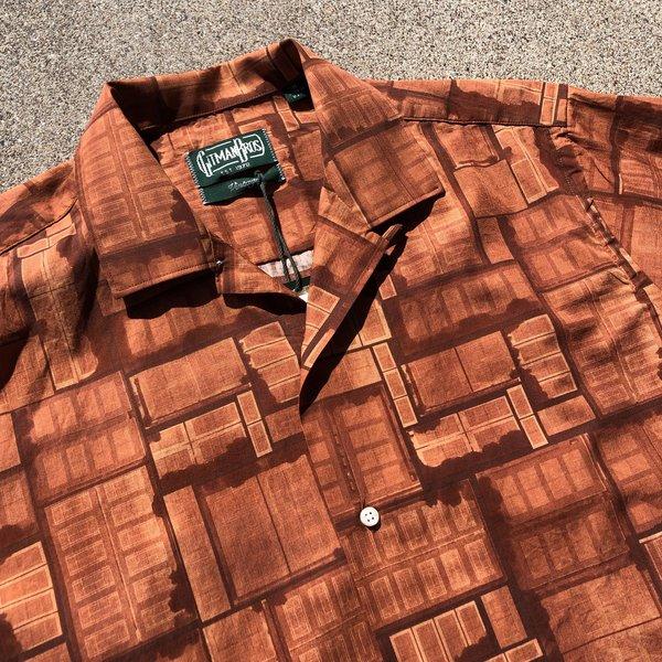 Gitman Bros. Gitman Camp Shirt - Rust Multi